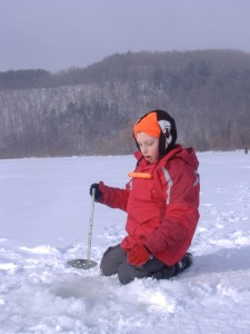 Max at Engleville Pond